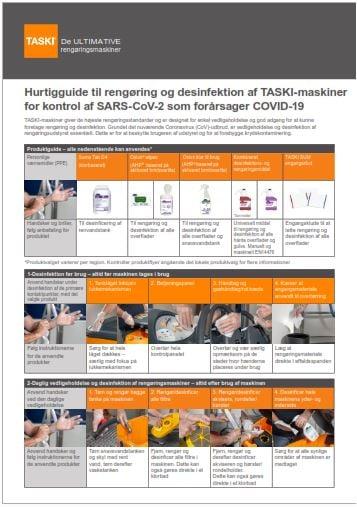 Diversey Guide Rengøring + Desinfektion TASKI-Maskiner