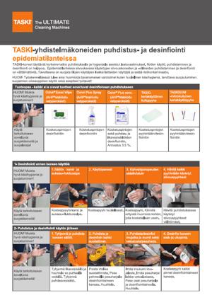 5. TASKI-yhdistelmäkoneiden puhdistus- ja desinfiointi