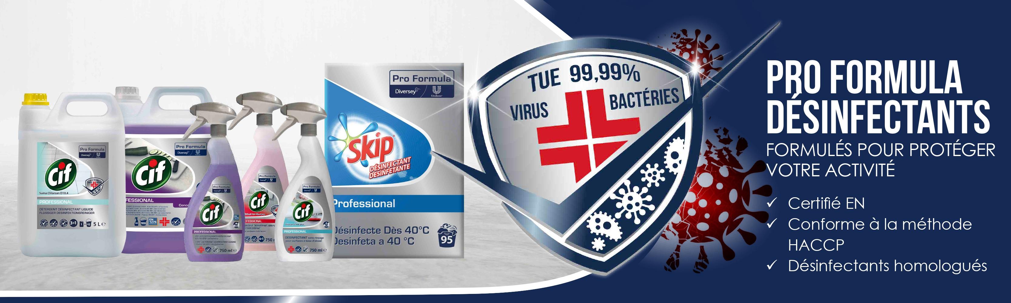 banniere web produits desinfection pro formula